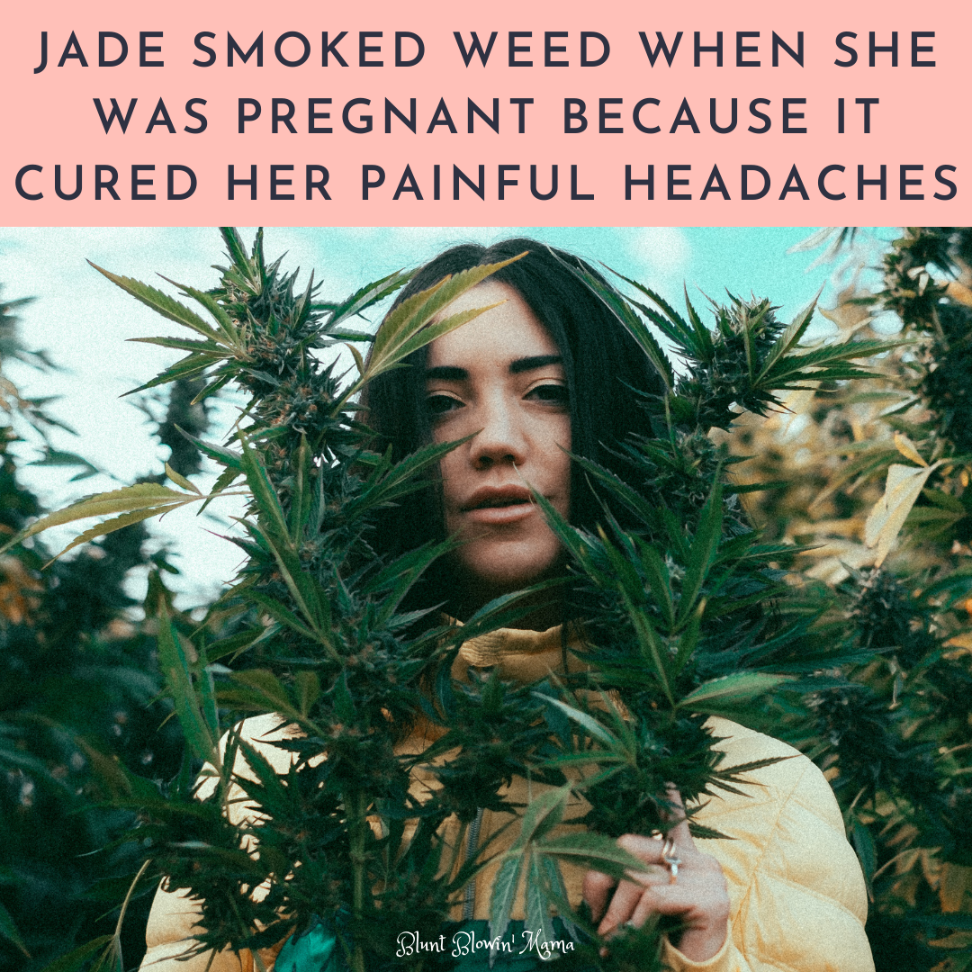 photo of jade a mom who smokes cannabis