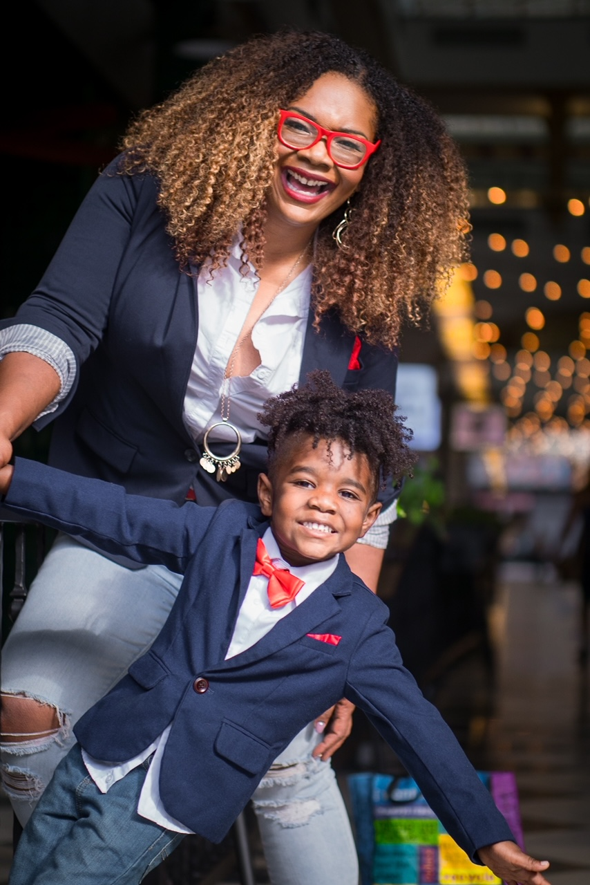 Whitney Beatty and her son